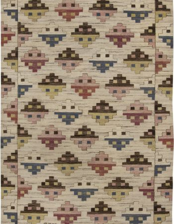 Vintage Swedish Flat Weave Rug by Marta Maas-Fjetterstrom BB6418