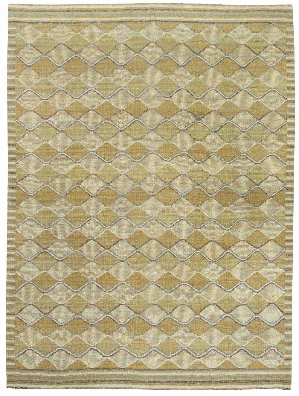 Swedish Flat Weave (Spattangul) Rug by Marta Mass Fjetterstrom BB6366