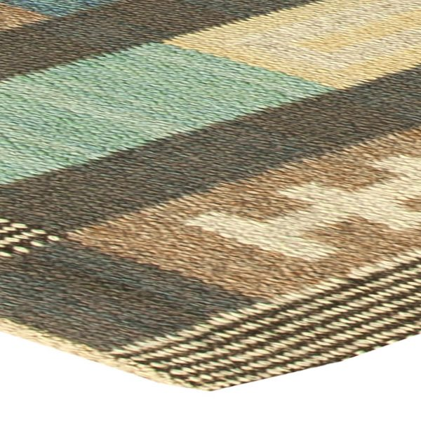 Vintage Swedish Flat Weave Rug BB6153