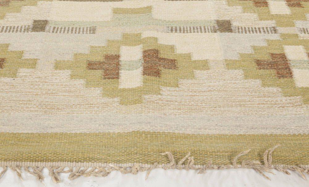 Vintage Swedish Flat Weave Rug by Karen Jonsson BB6574