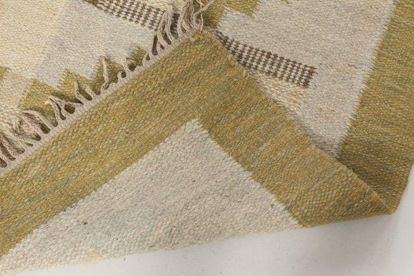 Tapete de tecido liso sueco vintage por Karen Jonsson BB6574