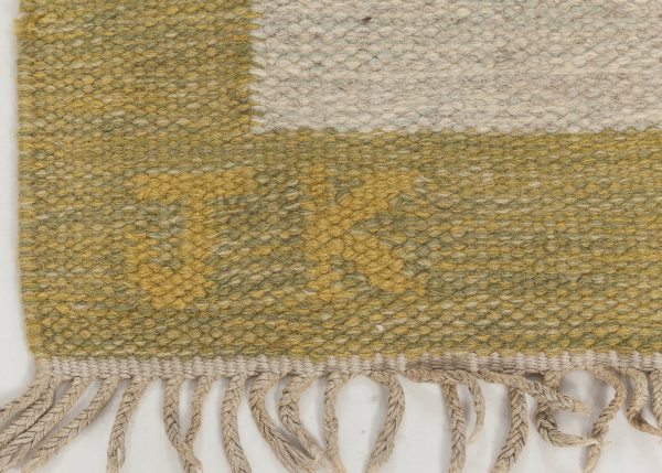 Vintage Swedish Flat Weave Rug by Karen Jonsson BB6574