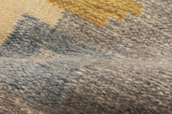 Vintage Swedish flat weave rug signed (JR) BB6564