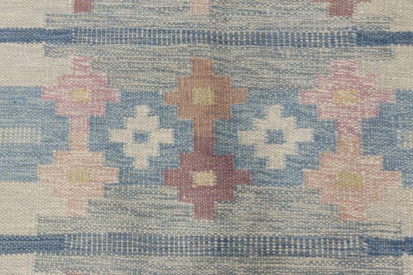 Alfombra sueca vintage de tejido plano firmado por Ingegerd Silow BB6561