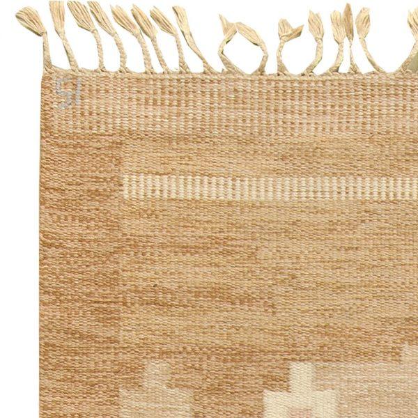 Vintage Swedish Flat Weave Rug Signed by Ingegerd Silow BB6159