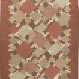 Vintage Swedish Flat Weave Rug Signed by    Ingegerd Silow BB6160