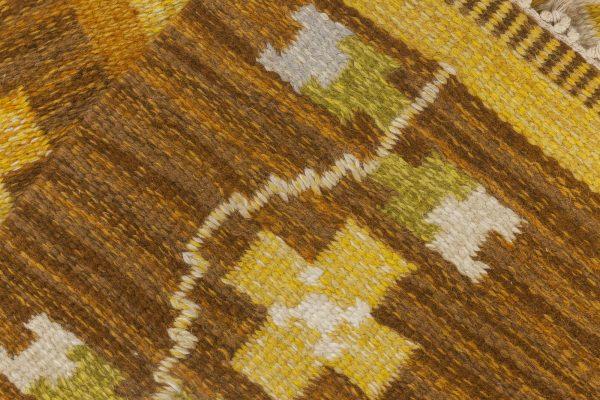 Alfombra sueca vintage de tejido plano firmado por Ingegerd Silow BB6541