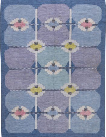 Vintage Swedish Flat Weave Rug by Ingegerd Silow BB6227