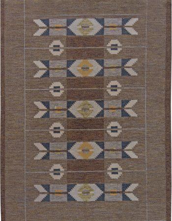 Vintage Swedish Flat Weave Rug by Ingegerd Silow BB6231