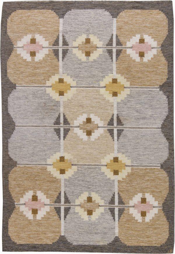 Vintage Swedish Flat Weave Rug by Ingegerd Silow BB6228