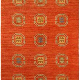 Mid-century Red, Blue & Yellow Swedish Flat-Weave Carpet BB5171