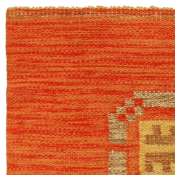 Vintage Swedish Flat Weave Carpet BB5171