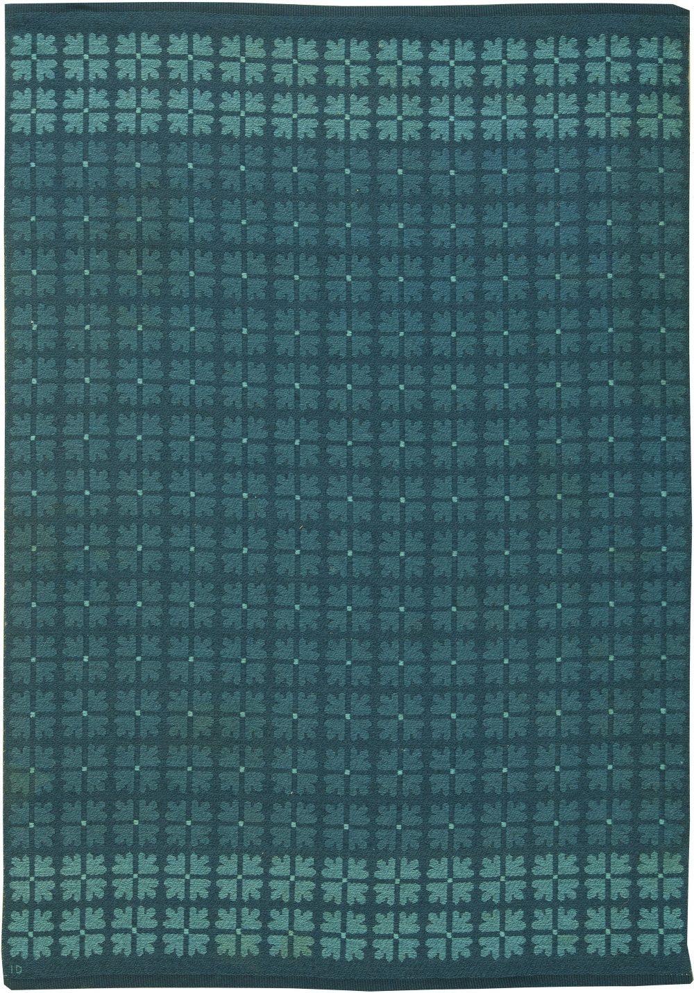 Vintage Swedish Flat Weave Reversible Rug by Ingrid Dessau BB6154