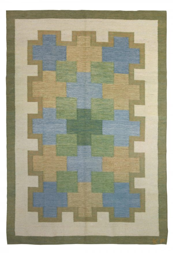 Vintage Swedish Rug by K.P. BB5354