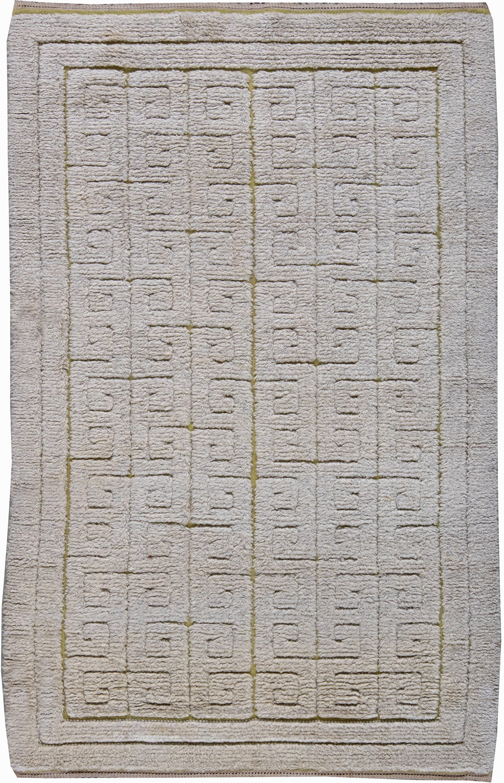 Vintage Swedish Half-Pile Rug BB6239
