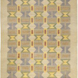 "Mid-century ""Soldis"" Swedish Rug in Pastel Tones by Judith Johansson BB5002"