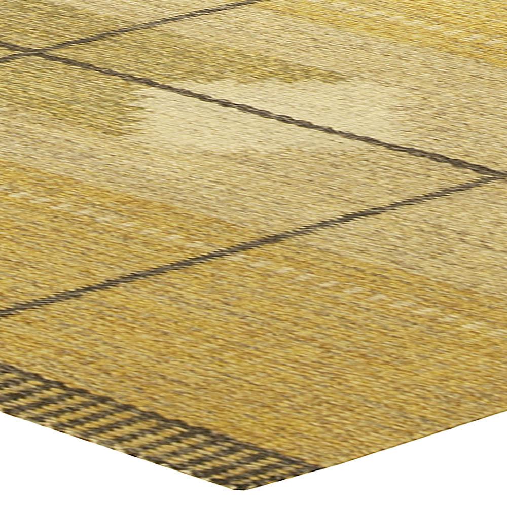 Vintage Swedish Flat-Weave Rug BB5062