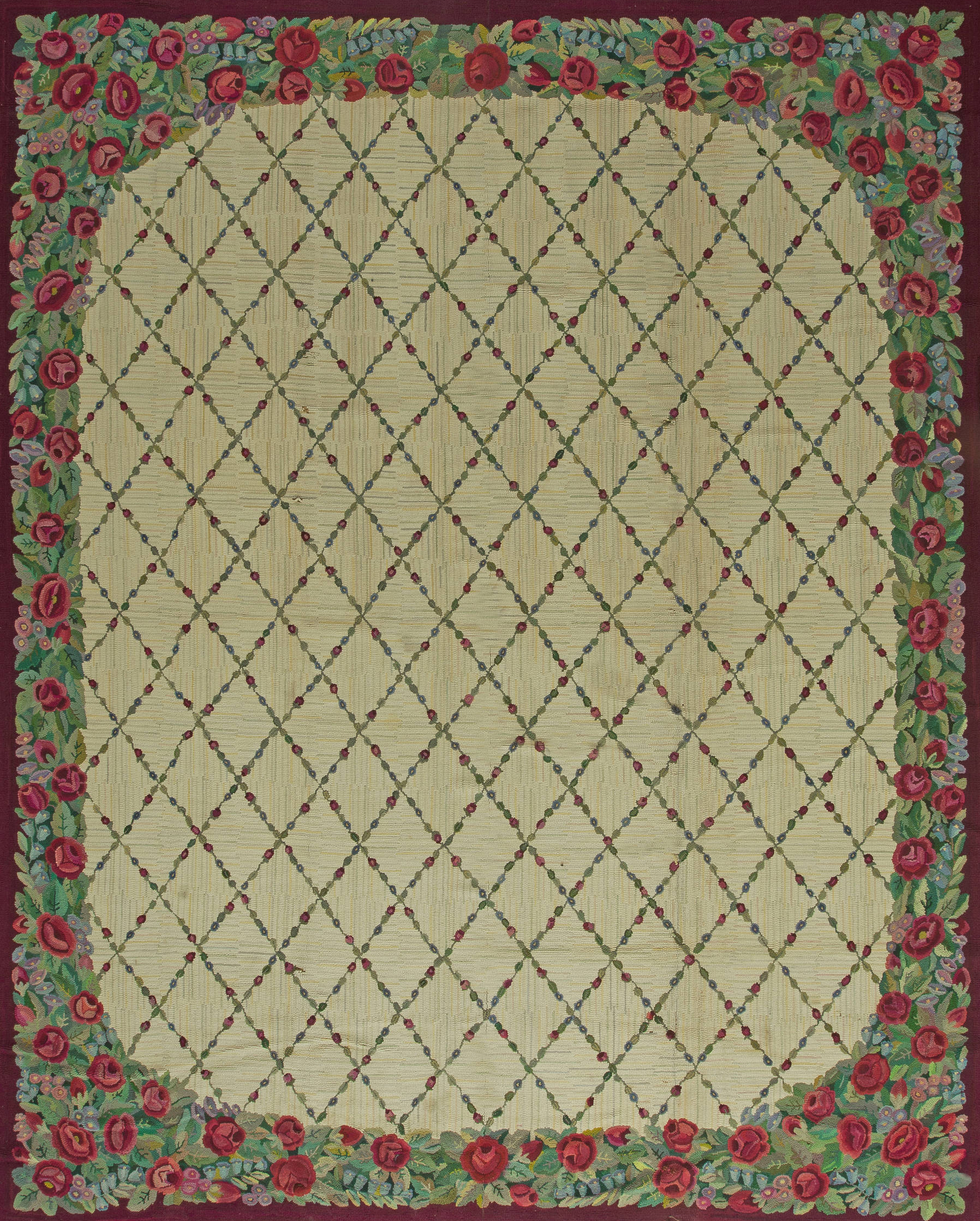 Vintage American Hooked Rug BB2647