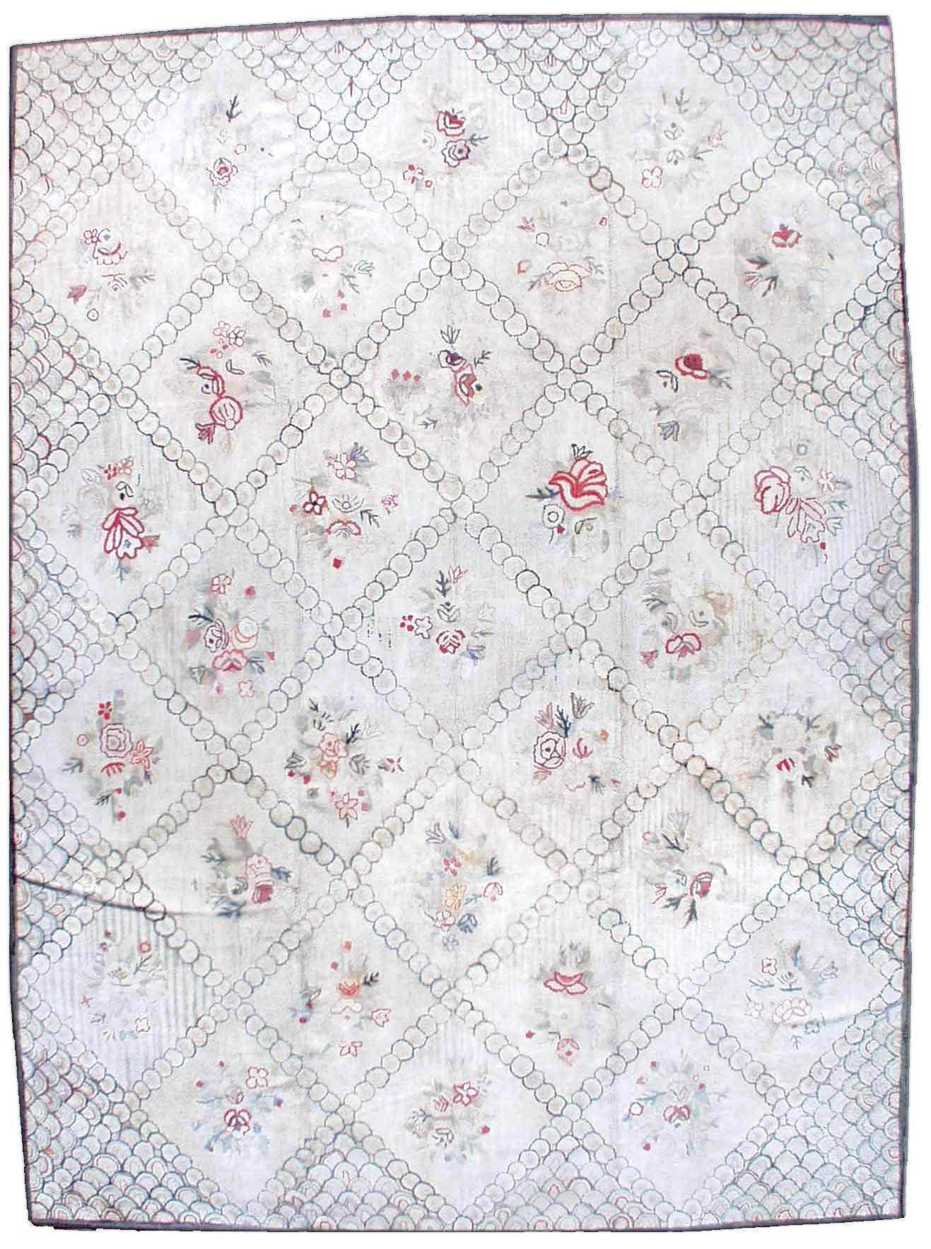 Vintage American Hooked Rug BB0436