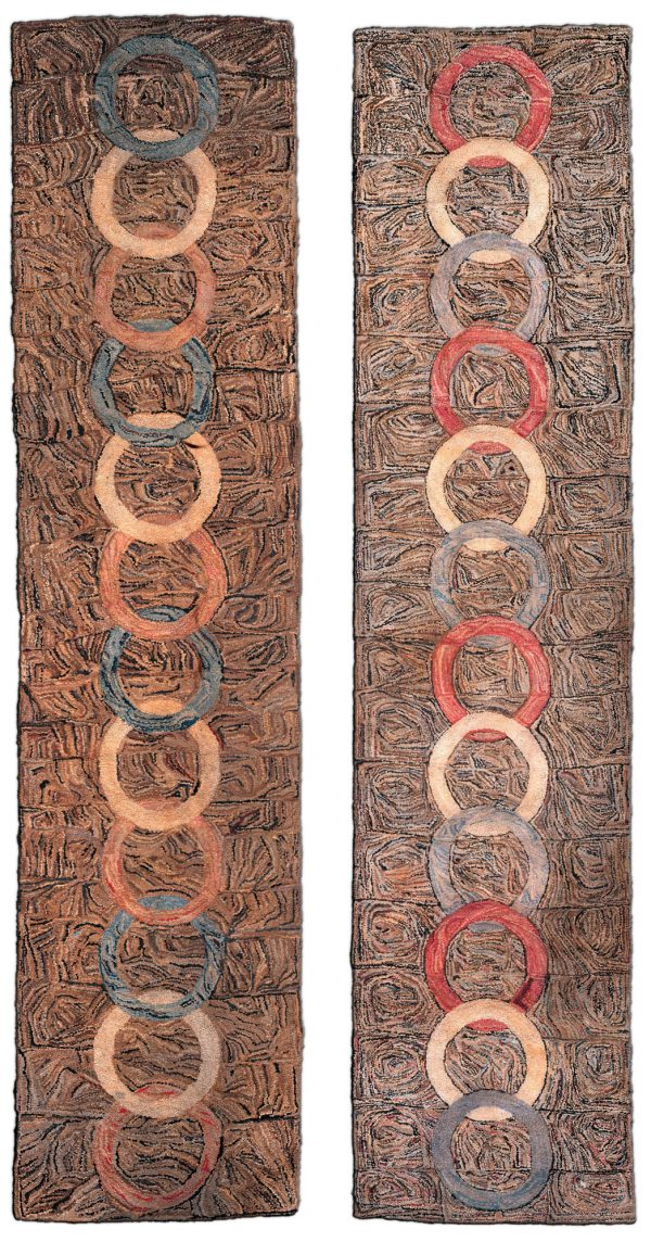 Vintage Pair of American Hooked Rugs BB2271