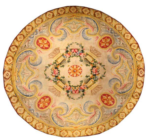 Vintage Spanish Circular Rug BB1348