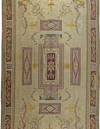 Weinlese-Spanisch Savonnerie Teppich (Größe angepasst) BB2786
