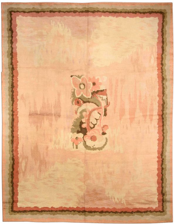 Vintage French Art Deco Rug BB3779