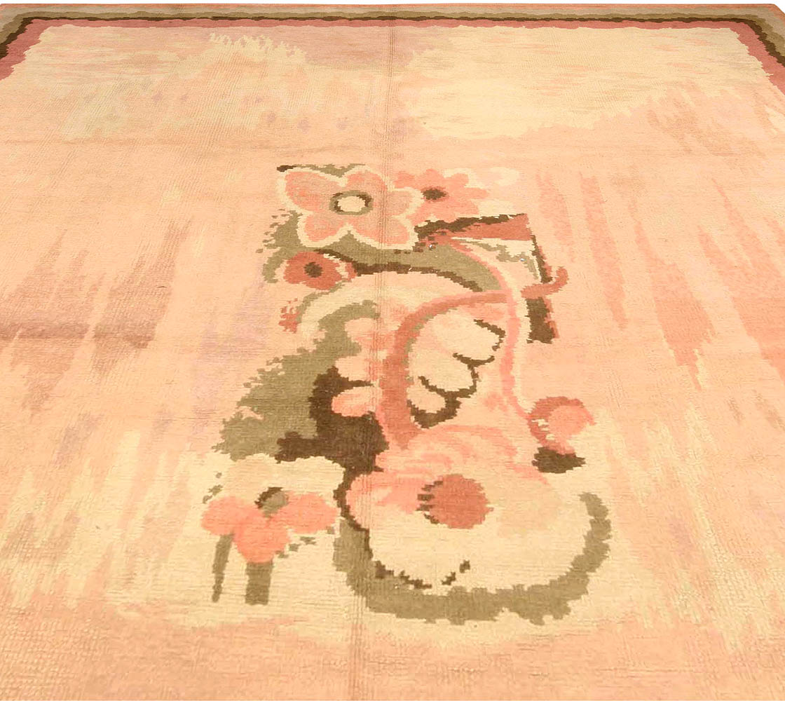 Vintage French Art Deco Rug Bb3779 By Dlb