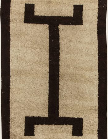 Moroccan Beige, Brown, Pink and Yellow Wool Rug Fragment Rug BB6957