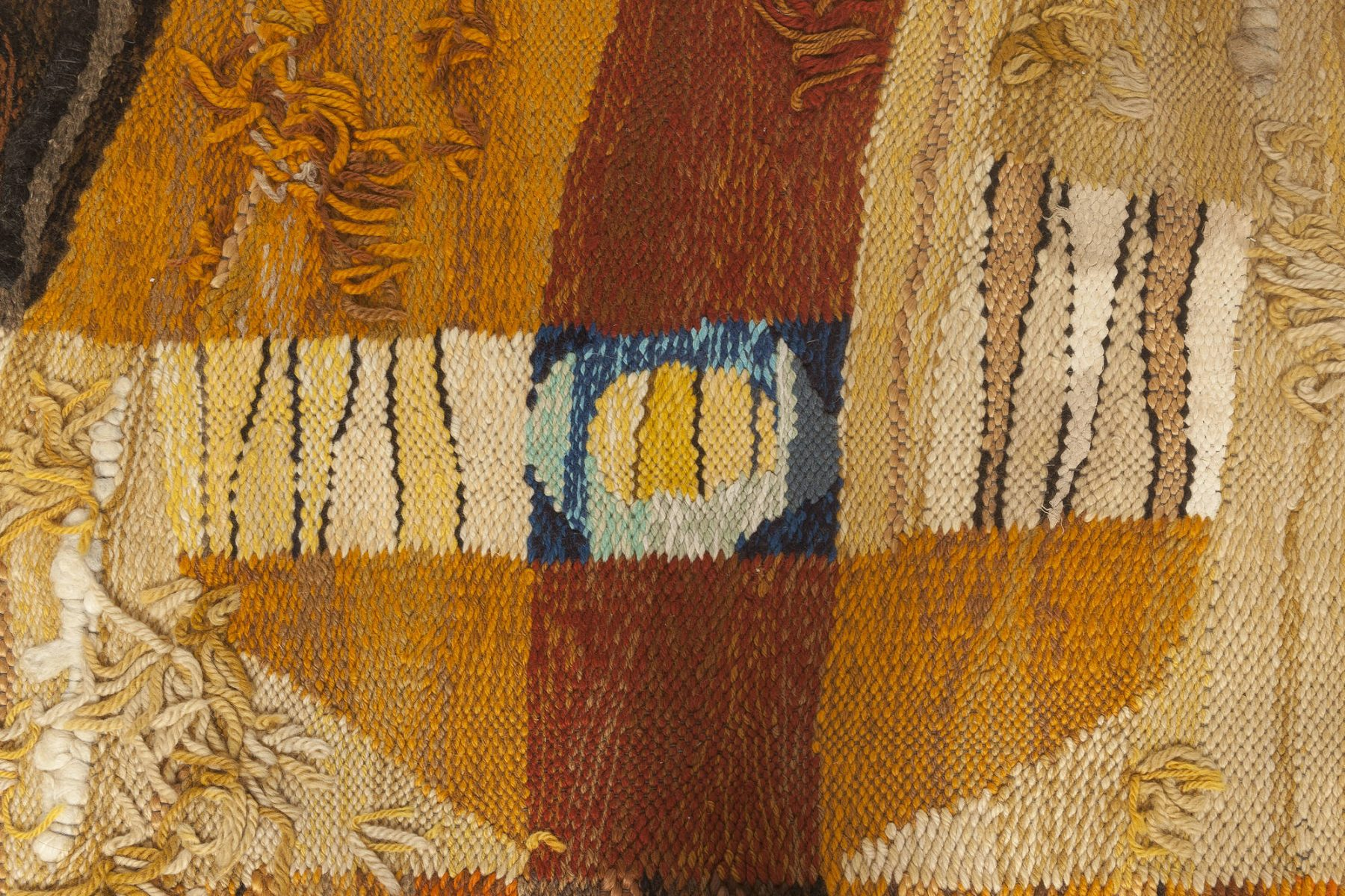 Scandinavian Folk Inspired Colorful Hand Knotted Wool Rug BB4548