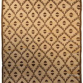 Vintage Moroccan Tribal Beige & Brown Rug BB4271