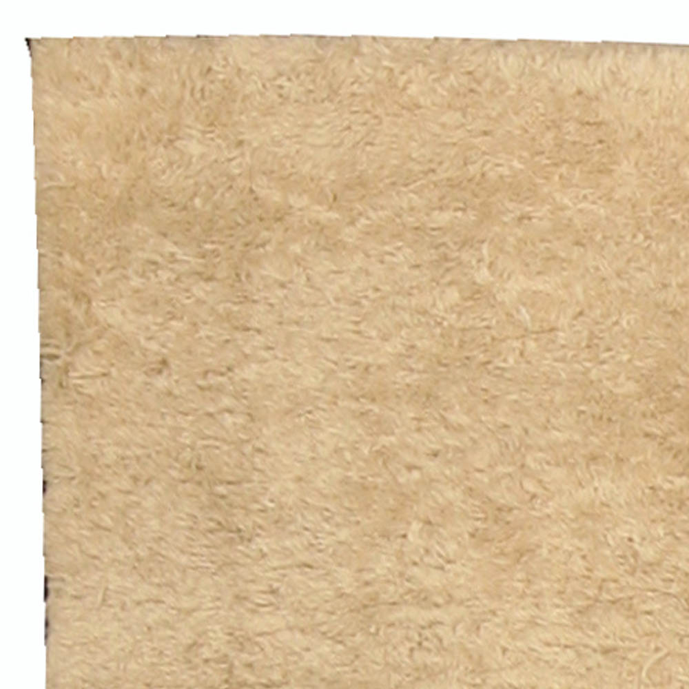 Vintage Mid-Century Moroccan Natural Undyed Wool Rug with Art Deco Design BB4761