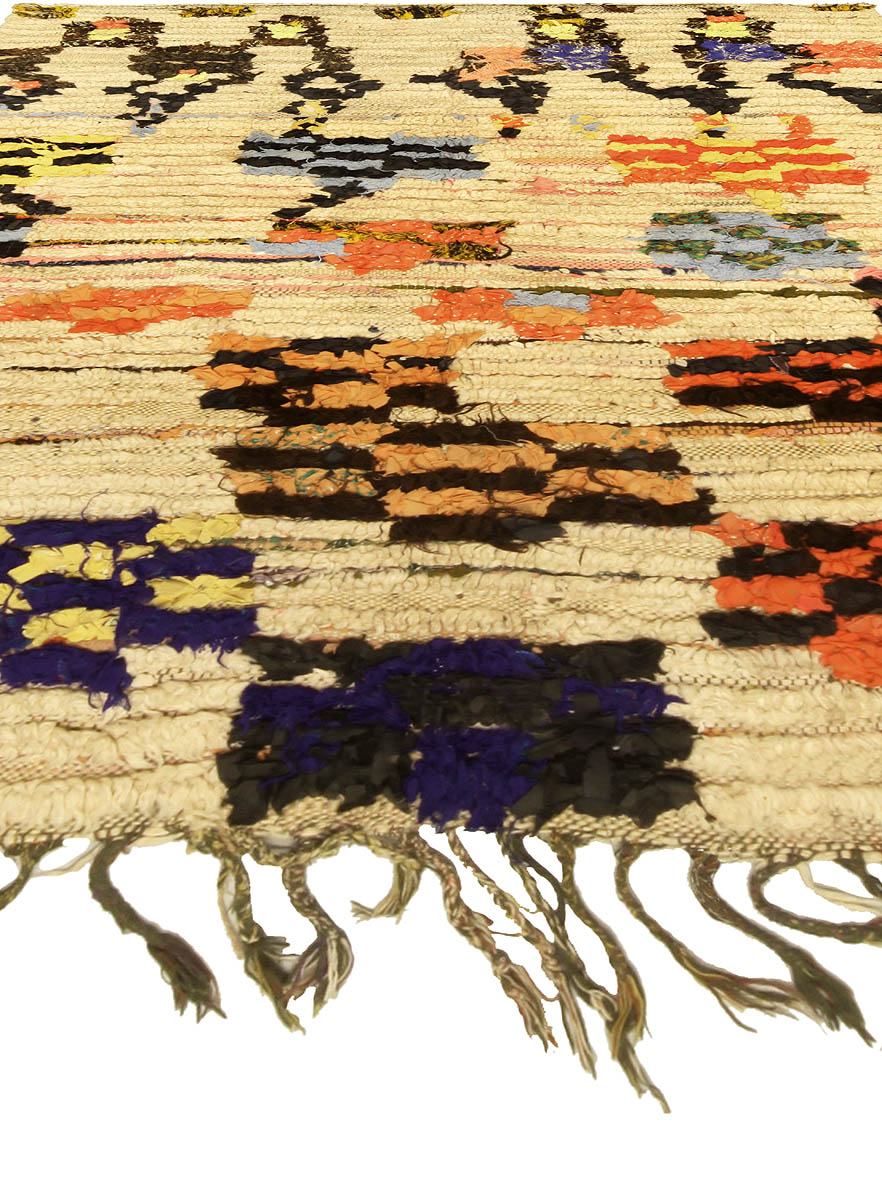 Colorful Vintage Handmade Moroccan Rug BB5141