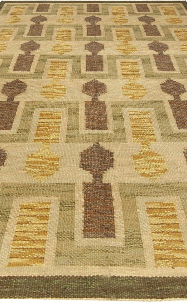 Vintage Swedish Flat Weave Rug BB4921
