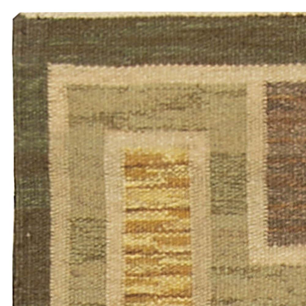 Vintage Swedish Flat Weave Rug BB4921
