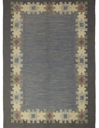 Vintage Tribal Hand-knotted Natural Wool Moroccan Area Rug BB2320