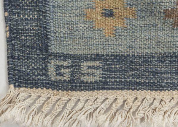 Alfombra suela vintage de tejido plano de Sverker Greuholm BB6554