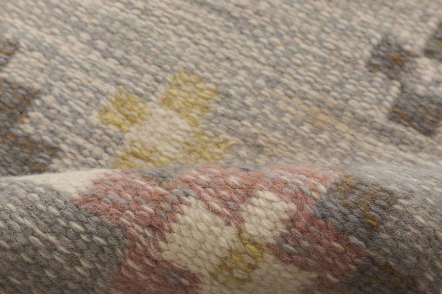 Vintage Swedish Flat Weave Rug Signed by Gitte Grannsjo Carlsson BB6545
