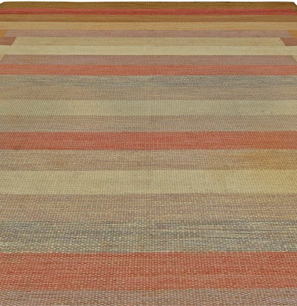 Vintage Swedish Flatweave Rug BB5883