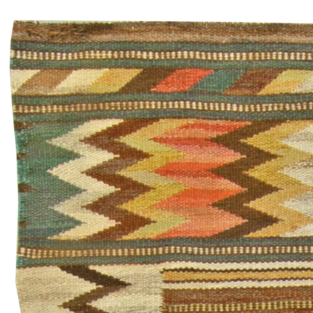 Vintage Swedish Flat Weave Rug by Märta Måås-Fjetterström (Viggbård) BB6087