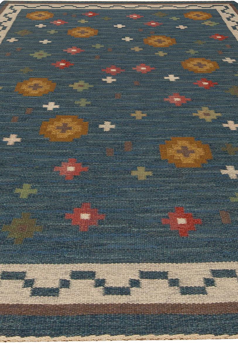 Vintage Swedish Flat Weave Rug BB5454