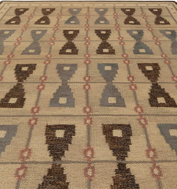 Vintage Swedish Flat Weave Rug BB5455