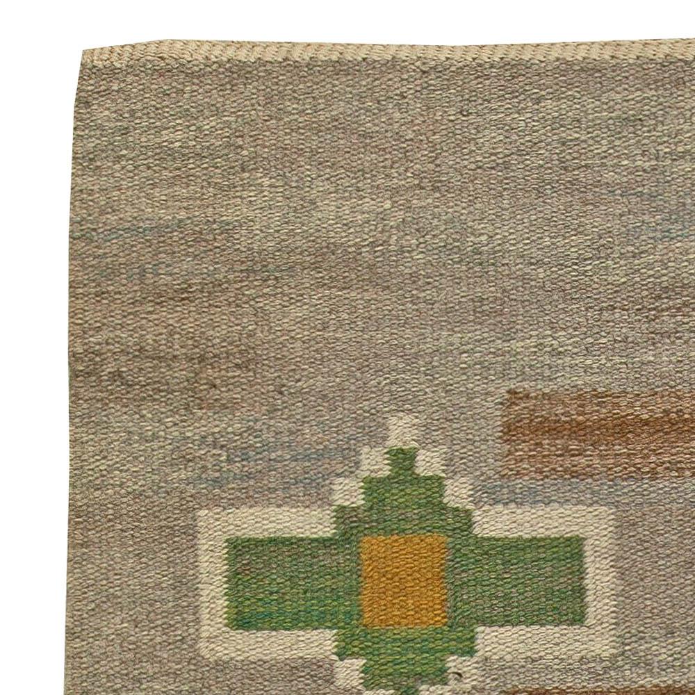 Vintage Swedish Flat Weave Rug by Judith Johansson BB5906