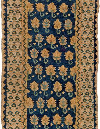 Antique Turkish Brown Flat-Weave Runner BB5768