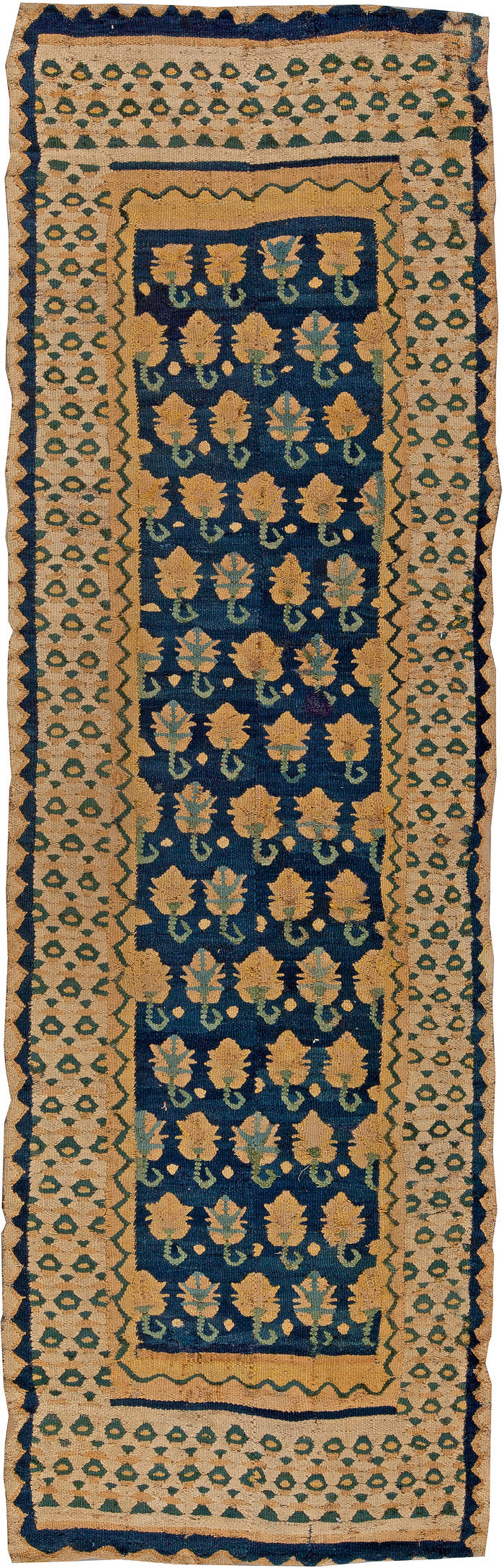Antique Spanish Flat-Weave Runner Rug BB5416