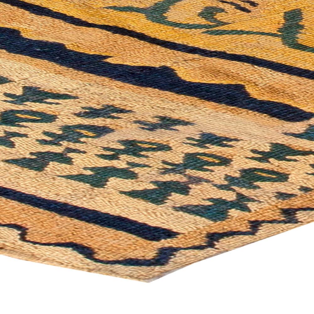 Vintage Spanish flat weave Rug BB5412