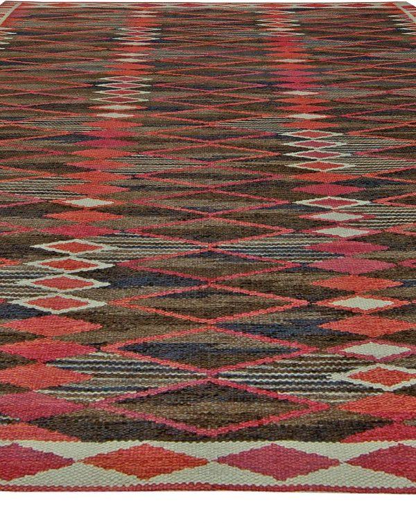 Vintage Swedish Flat Weave Rug BB5468