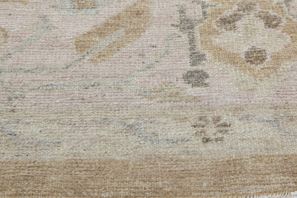 1920s Turkish Oushak Rug in Gray, Light Beige and Brown BB6845