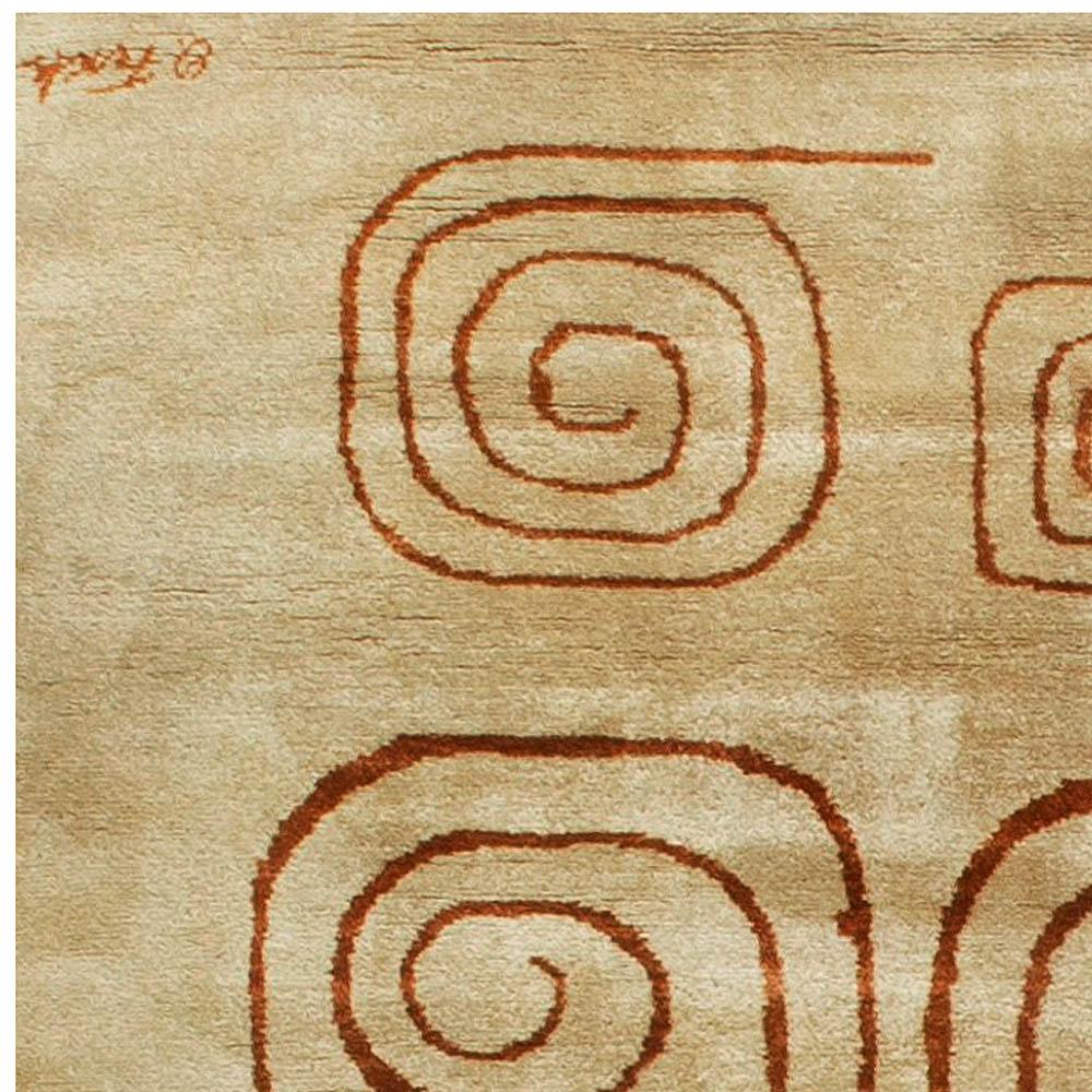 Deco Vintage Rug (Churos) signed by Olga Fisch BB6828