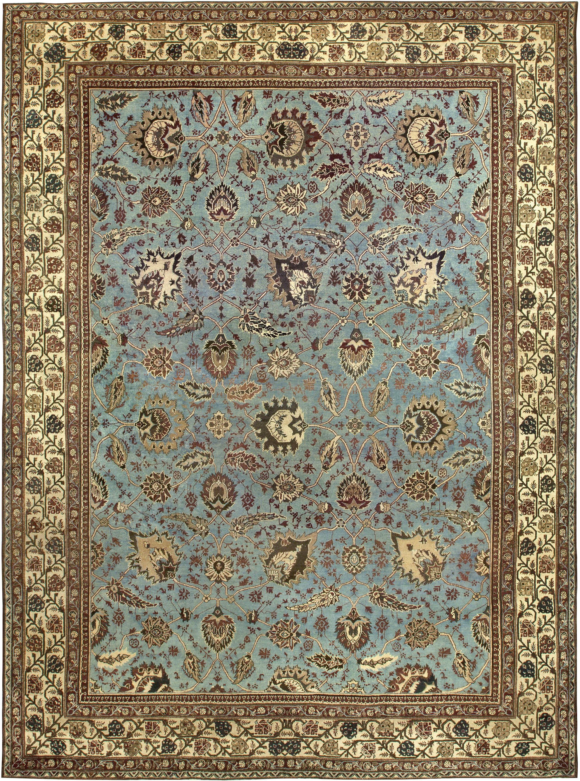 Large Antique Indian Amritsar Rug Bb6792 By Dlb
